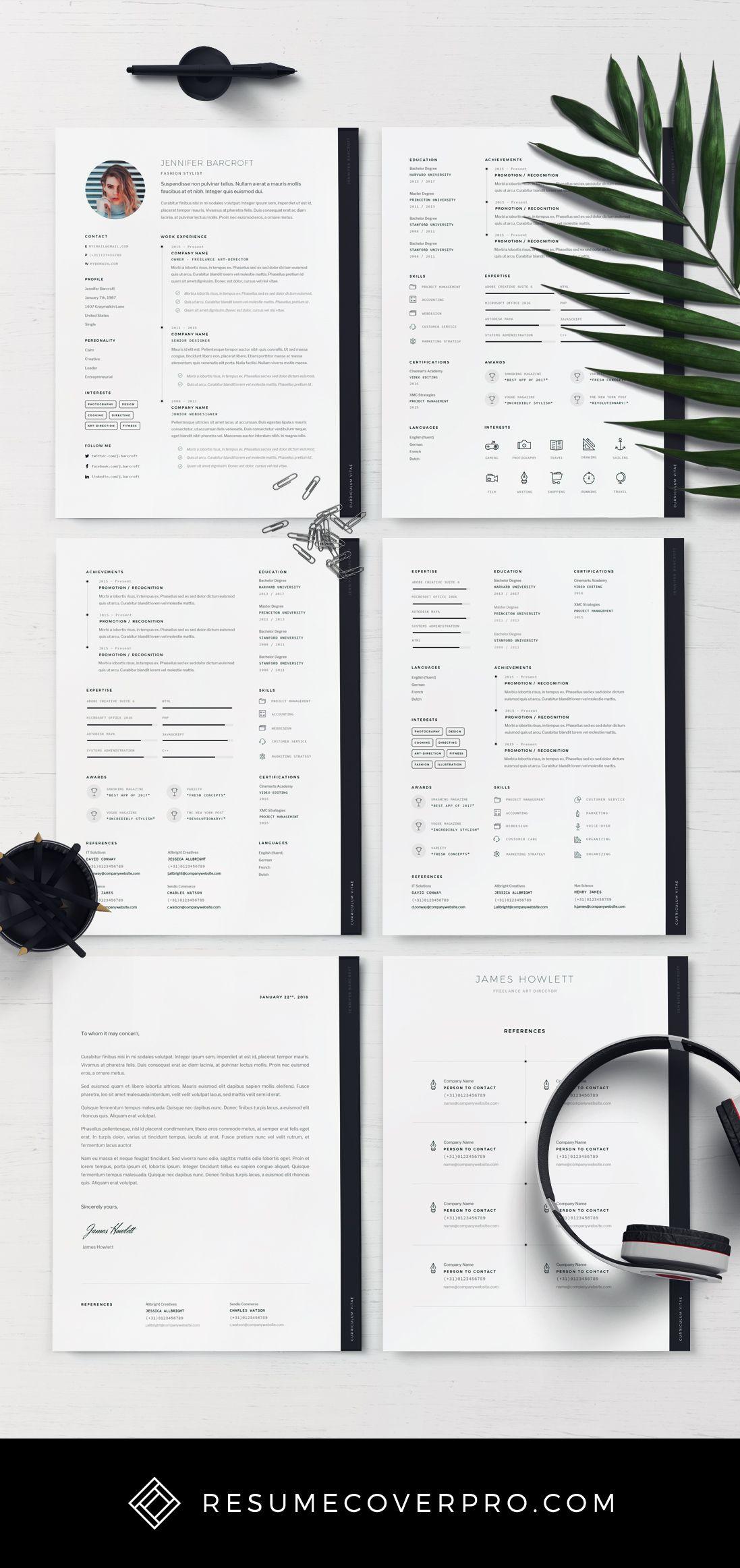 Minimalist Resume Template For Word | MS Word CV | Modern Resume |  Professional Resume |