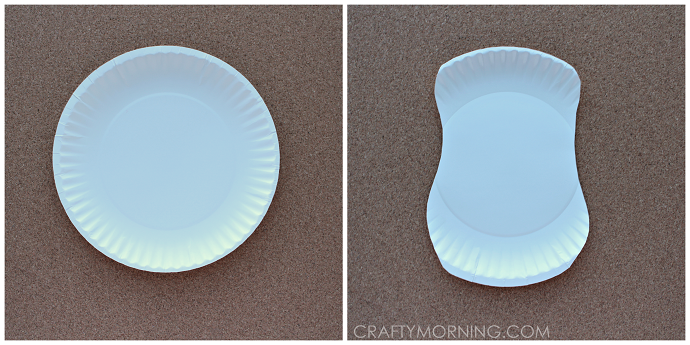Paper Plate Eeyore Donkey Craft For Kids