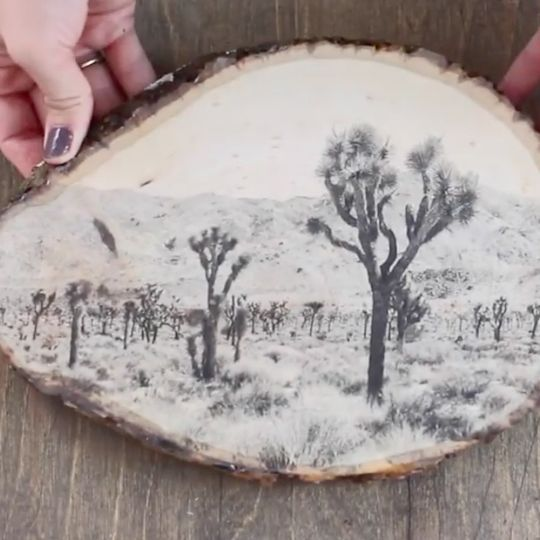 How to Transfer Ink to Wood #woodart