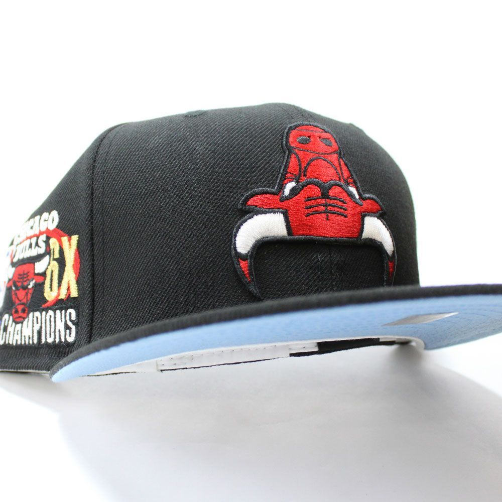 Chicagobulls Upside Down Nba Champ 59fifty Fitted Neweracap In Grayunderbrim Ecapcity Fitted Hats New Era Cap Nba Outfit