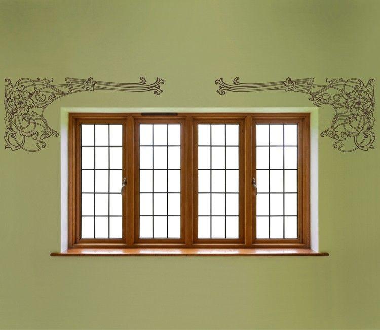 Art Nouveau Border Wall Decal Unique House Design Unique Home Decor Window Renovation