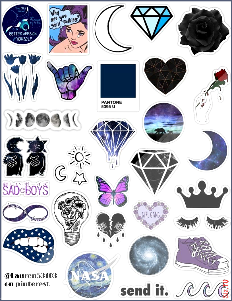 Dark Gal Stickers Dark Gal Stickers Lily Colurfulllife Sticker Dark Gal Sticker Pack Galaxy Purple Blu Hydroflask Stickers Tumblr Stickers Iphone Case Stickers