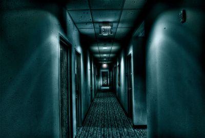 Hallway Canvas Print Hallways Dark Hallway And Canvases