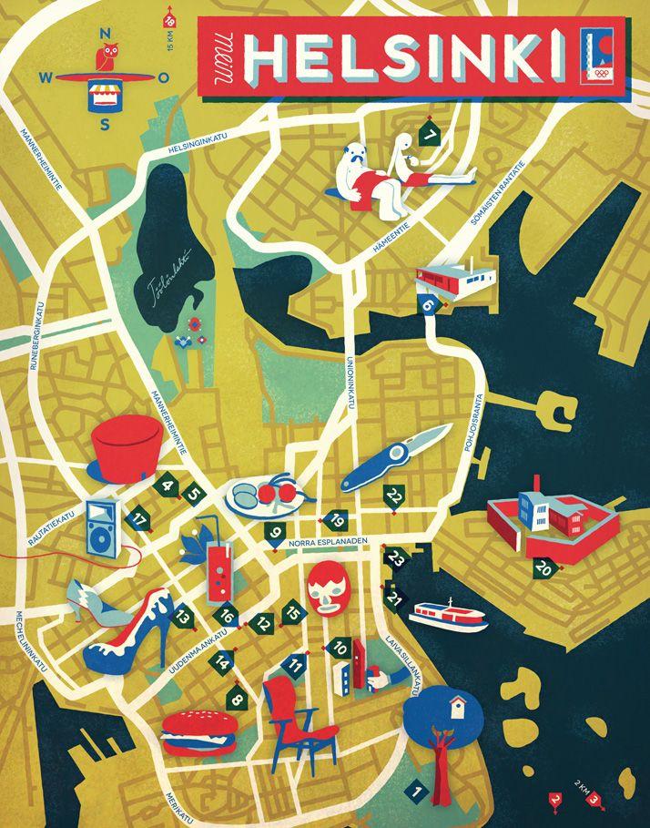 Jon frickey map of helsinki fernweh pinterest helsinki jon frickey map of helsinki gumiabroncs Image collections