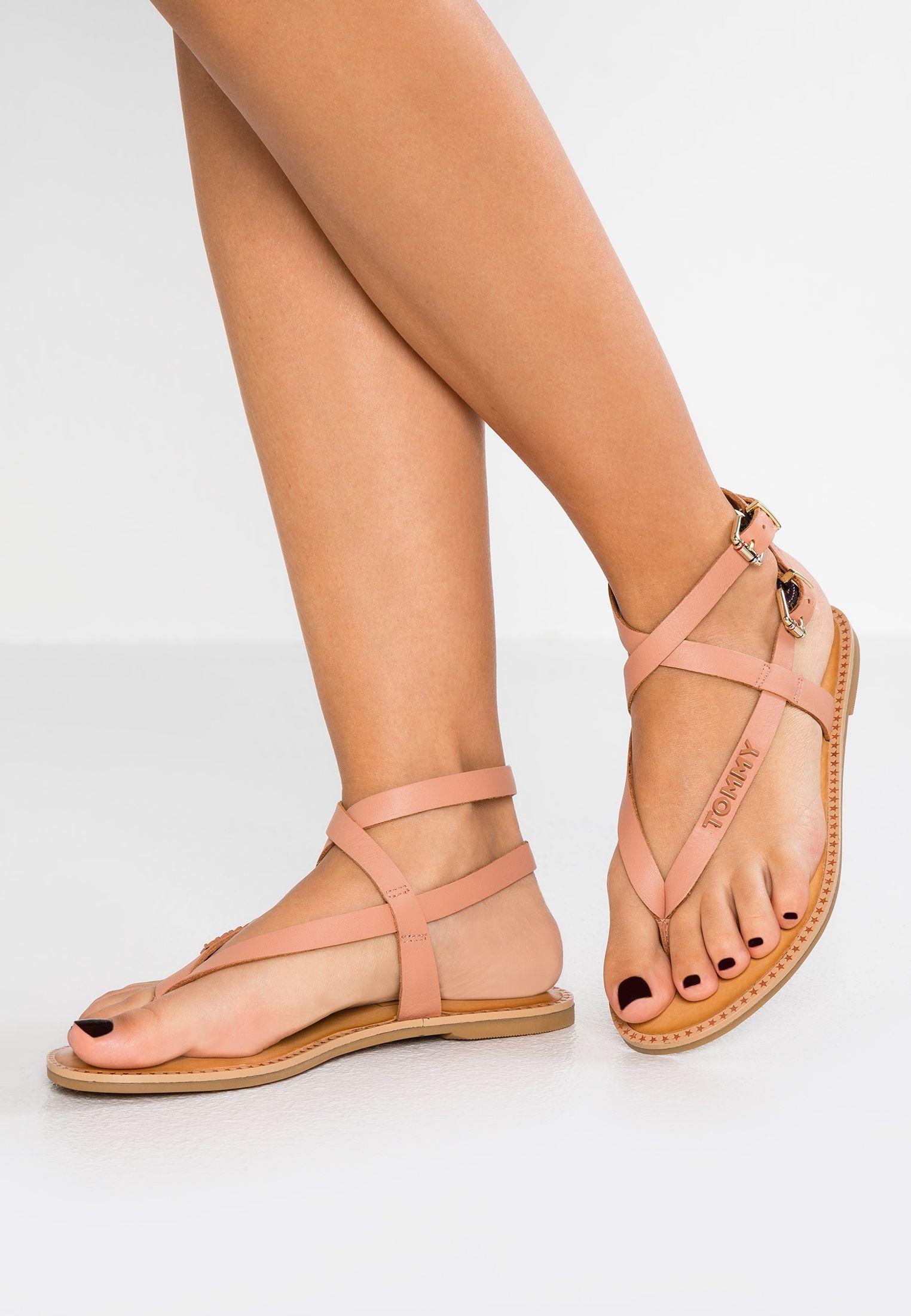 ICONIC FLAT STRAPPY T bar sandals beige @ Zalando.co.uk