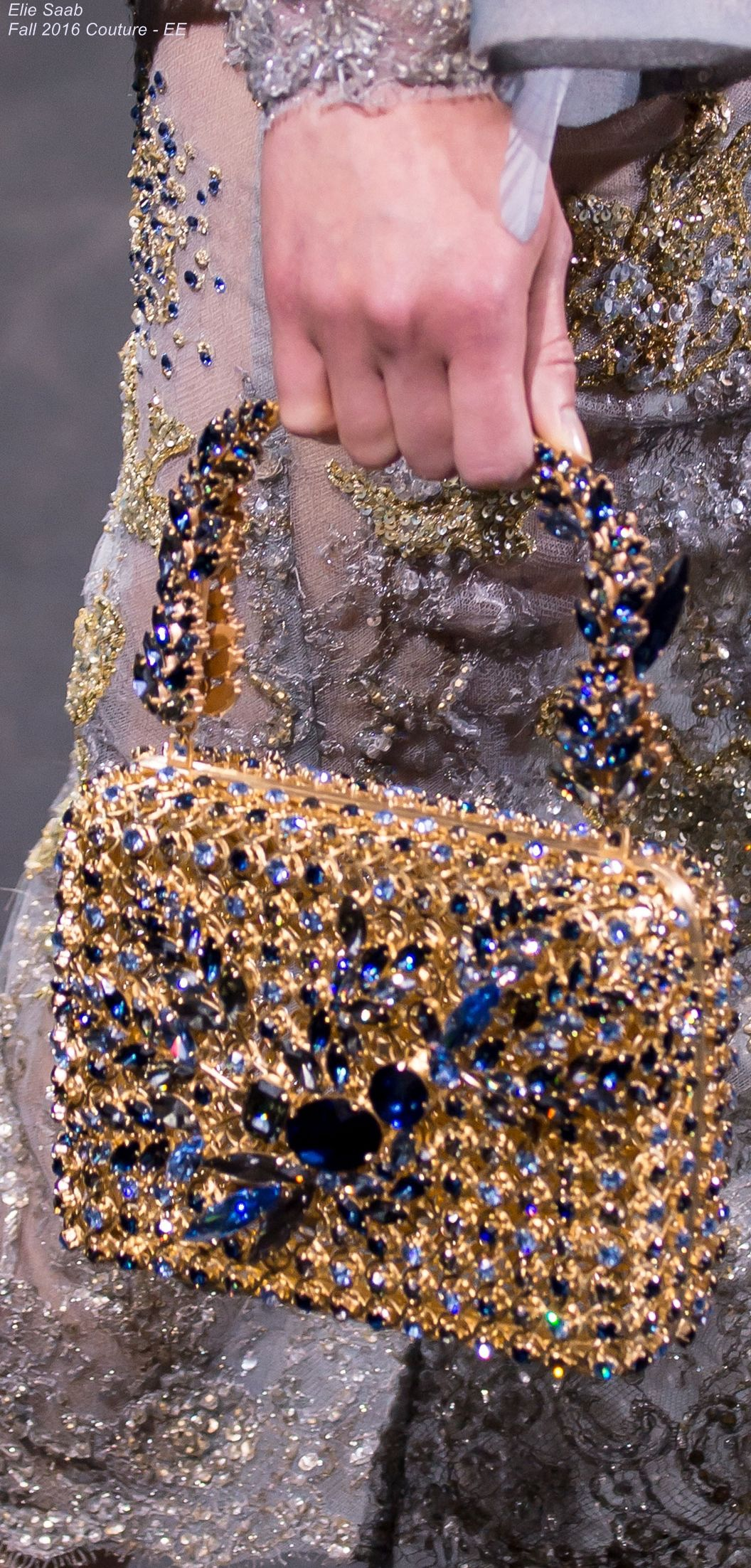 Elie Saab Fall 2017 Couture Ee Hobo International Handbags Online And Purses For Less Brown Purse Black Leather