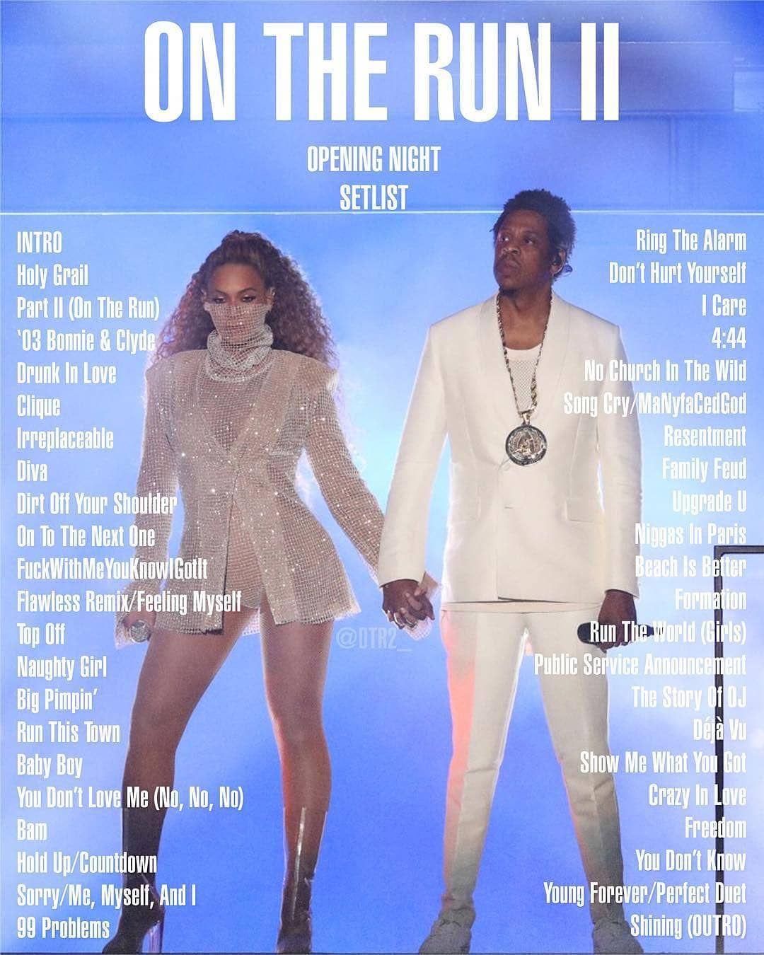 Beyoncé & Jay OTR II SetList Principality Stadium Cardiff