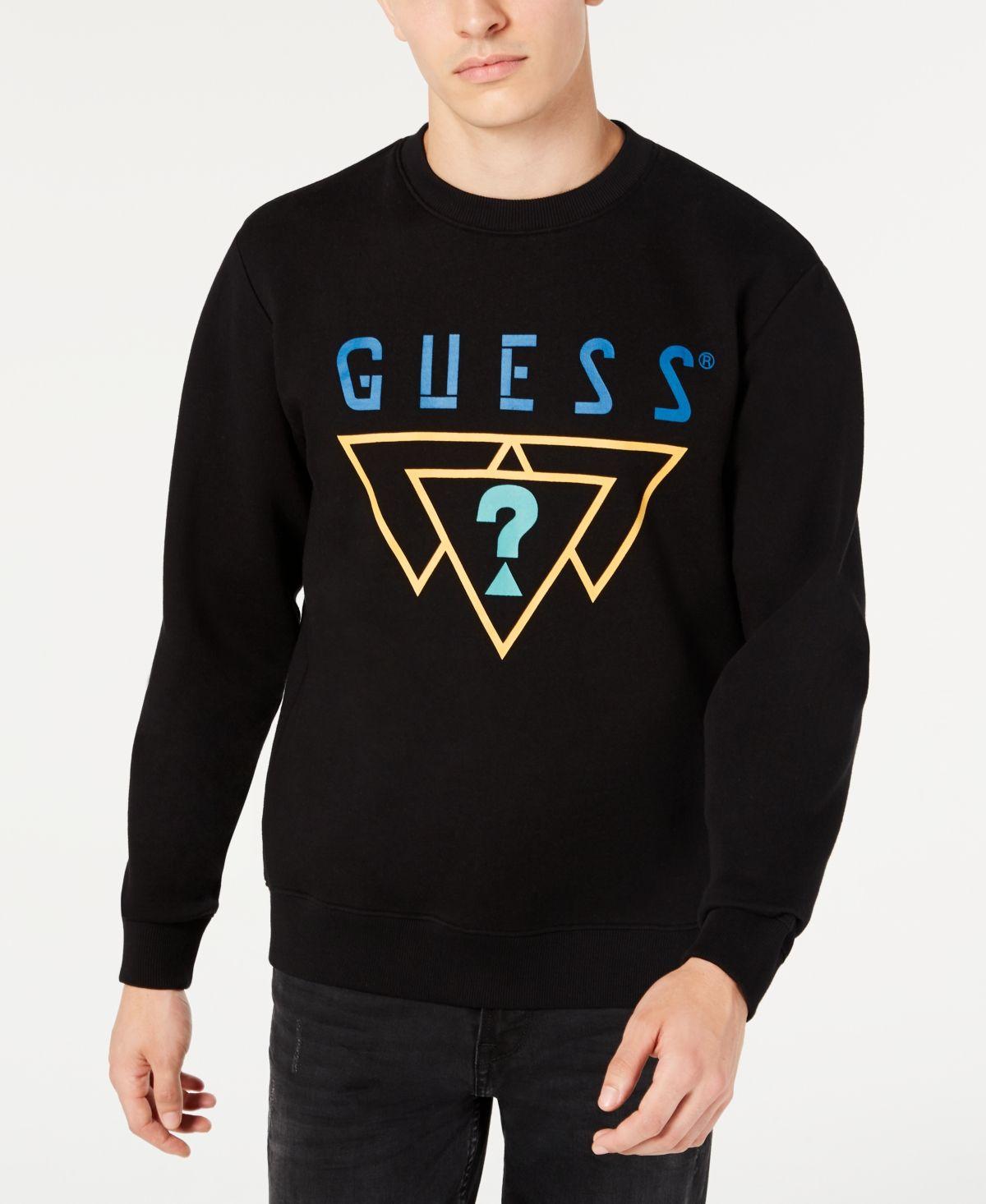 Guess Men S Logo Triangles Sweatshirt Jet Black Sweatshirts Mens Sweatshirts Guess Men [ 1466 x 1200 Pixel ]