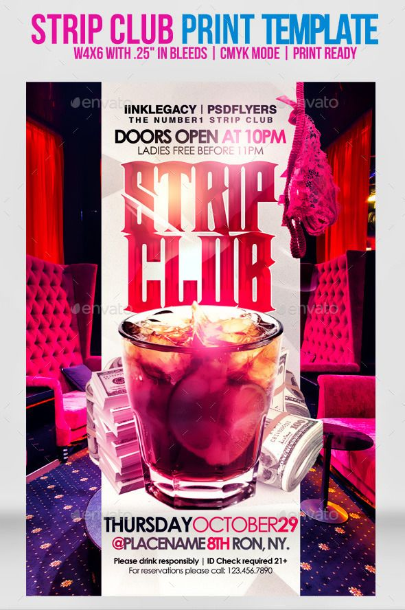 Stripclub Template Print Templates Flyers Tagged As Bar Beautiful