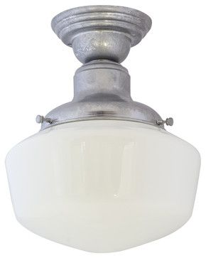 Intermediate schoolhouse semi flush mount light contemporary intermediate schoolhouse semi flush mount light contemporary ceiling lighting tampa barn aloadofball Choice Image