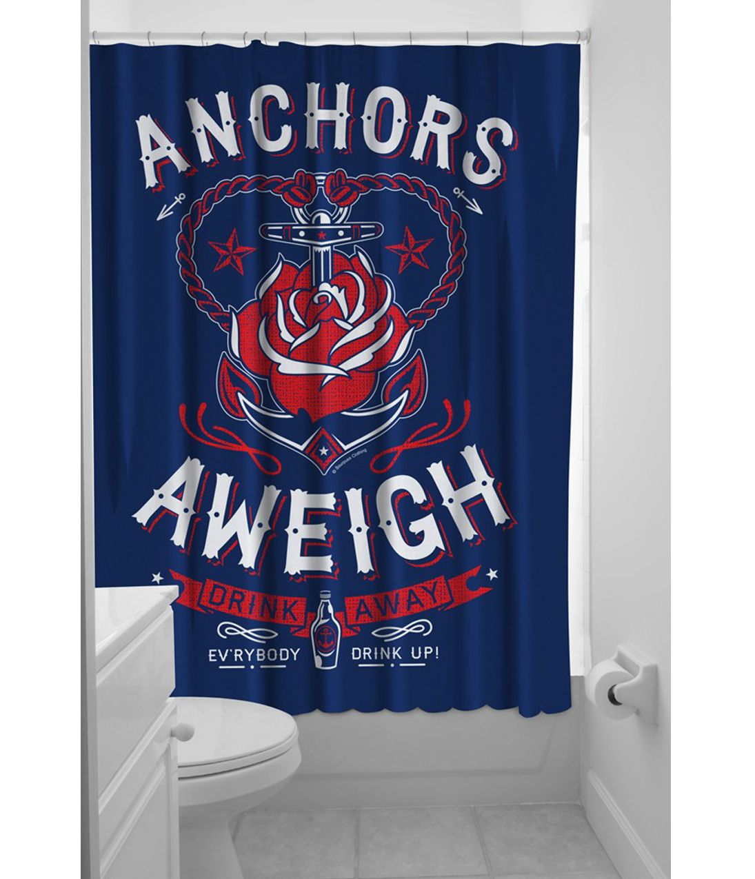 Unique Vintage Anchor Shower Curtains Curtains Blue Shower