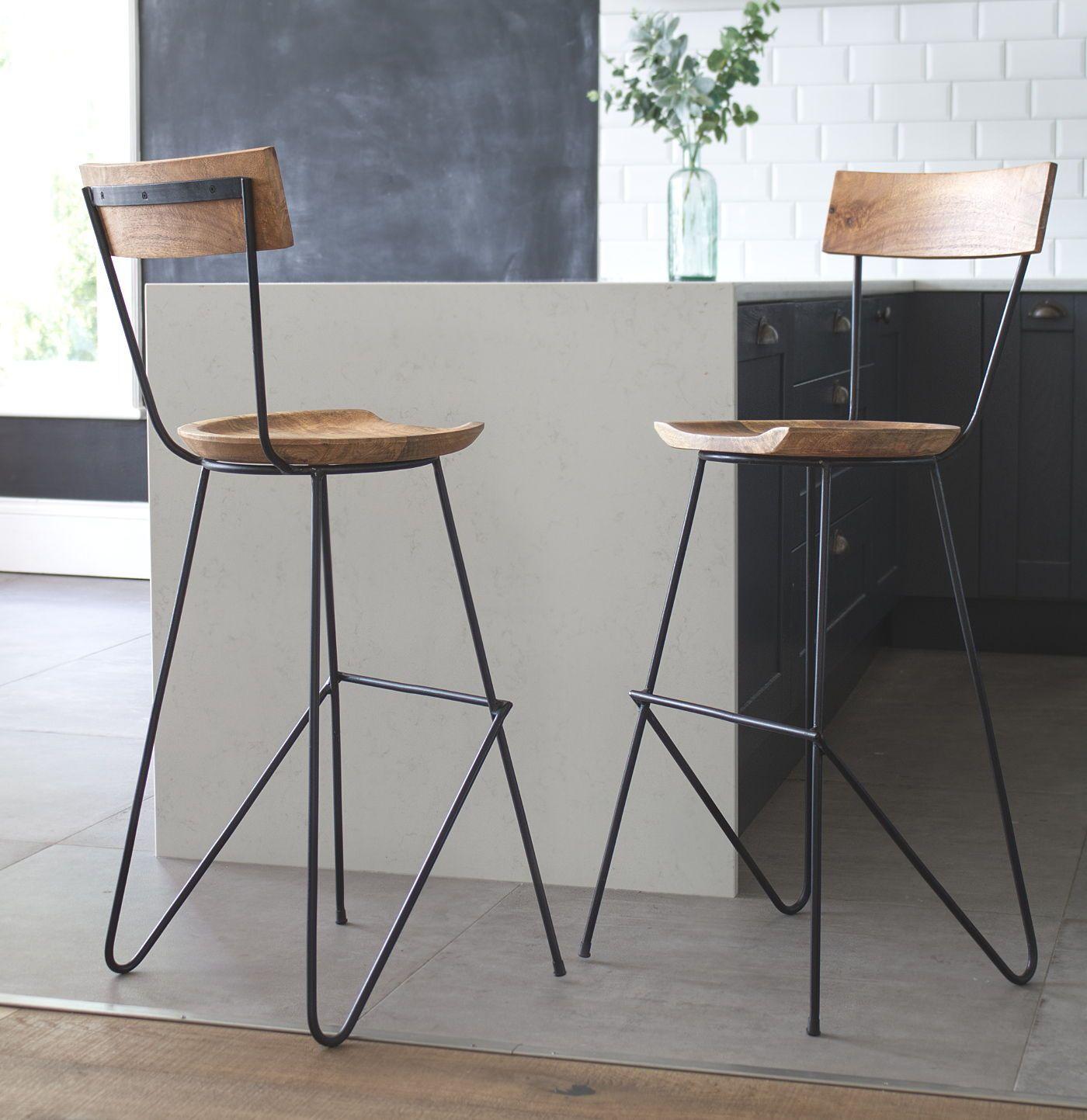 Stoker Bar Stool With Backrest Vaunt Design Designer Bar Stools Wooden Bar Stools Industrial Bar Stools