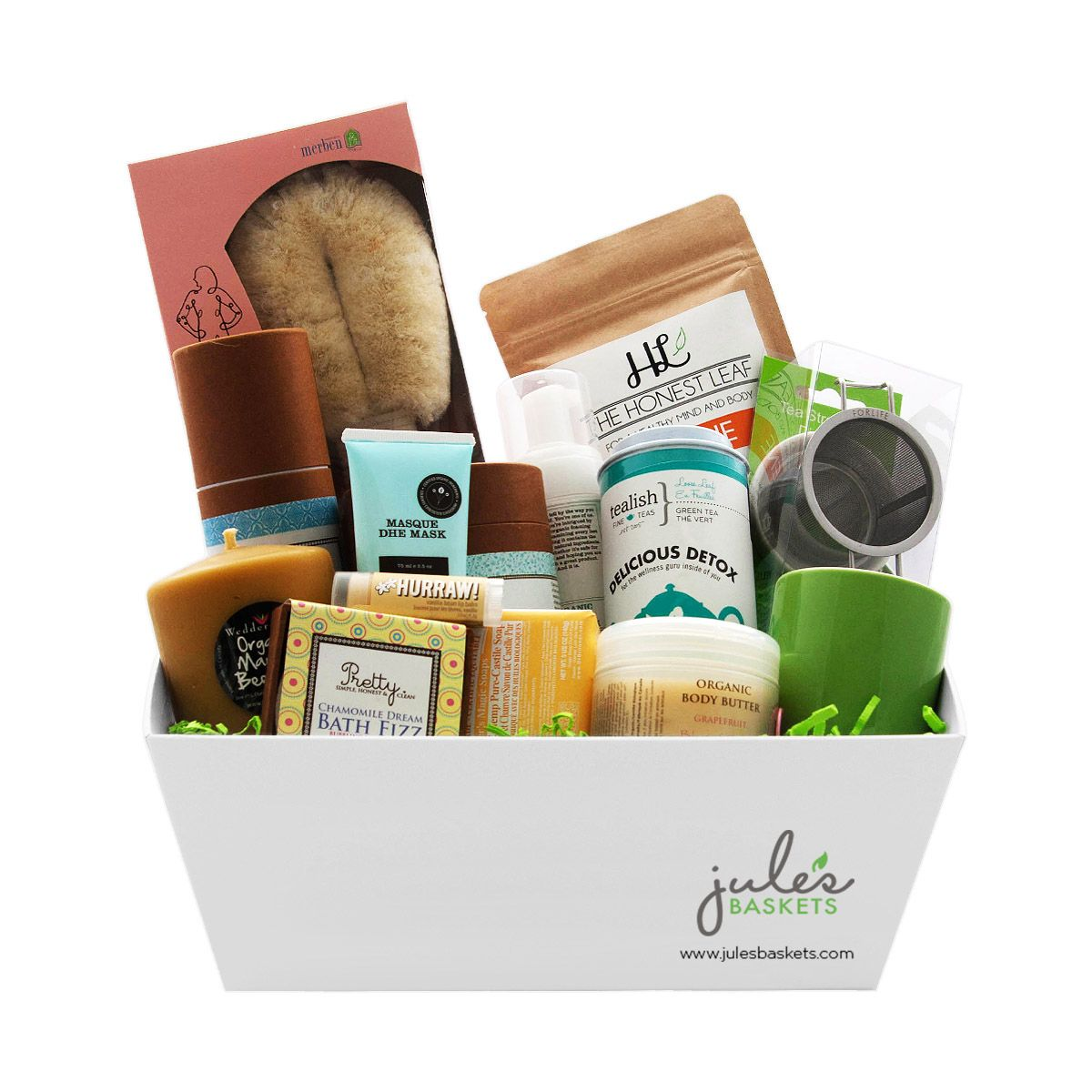 Spa basket 23799 by jules baskets organic glutenfree spa basket 23799 by jules baskets organic glutenfree giftbaskets gifting negle Images