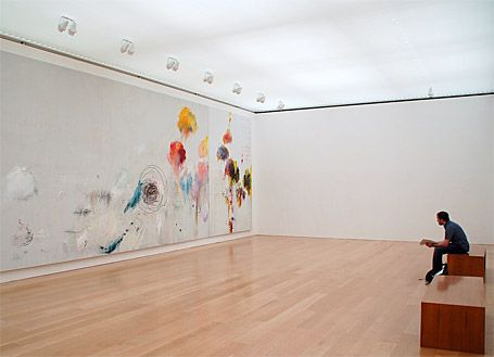 """Cy Twombly, """"Untitled (Say Goodbye Catullus, to the Shores of Asia Minor)"""" (1994), Menil Collection, Houston. Photo : Kewing, licence CC"""