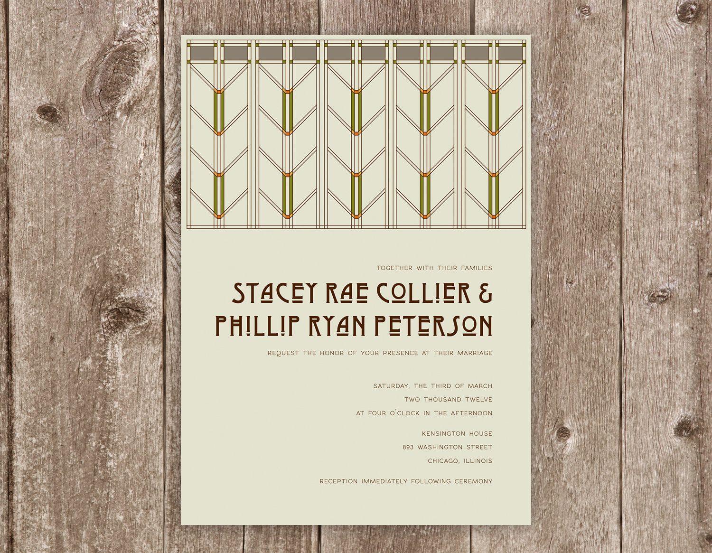 Arts & Crafts Wedding Invitation Collection | Wedding and Wedding