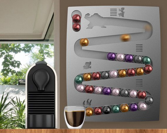 Nespresso donkey kong wall mount for coffee capsules - Support mural capsules nespresso ...