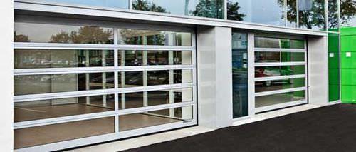 Porte sectionnelle pour l 39 ext rieur industrielle crawford 242fg assa abloy entrance systems - Porte sectionnelle crawford ...