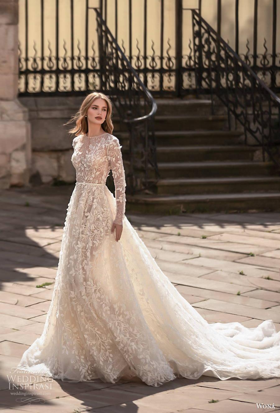 Wona Concept 2021 Romance Wedding Dresses Wedding Inspirasi Long Sleeve Wedding Dress Lace Modest Wedding Dresses With Sleeves Modest Bridal Gowns [ 1326 x 900 Pixel ]