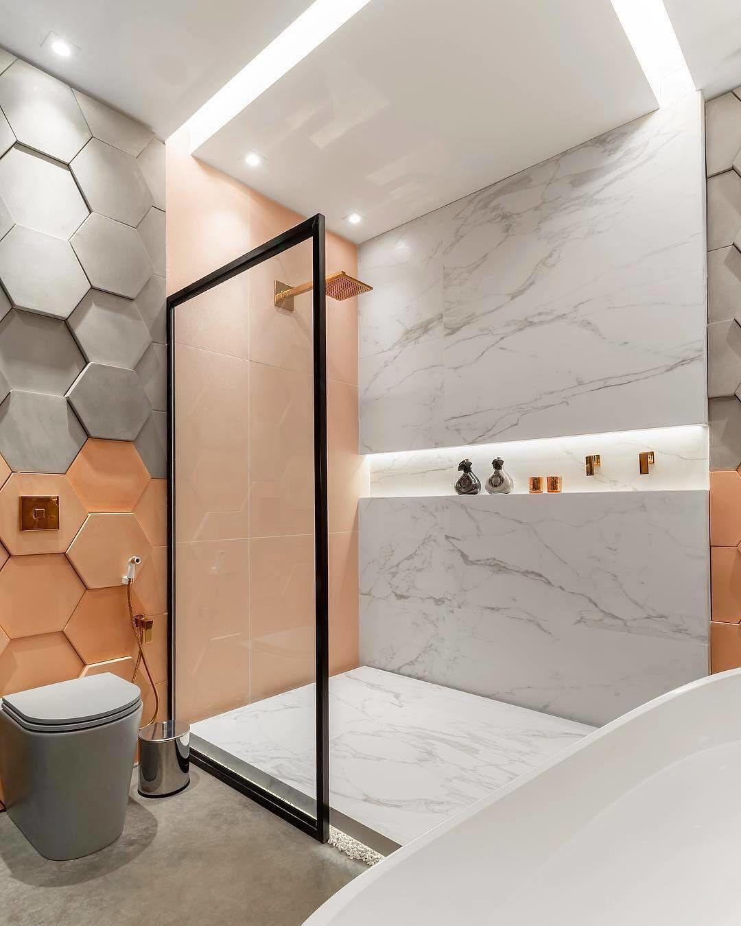 Interior Design Decor On Instagram Beautiful Bathroom By Rafaellevelasquearquiteta Bathroom Tile Designs Bathroom Interior Design Minimalism Interior