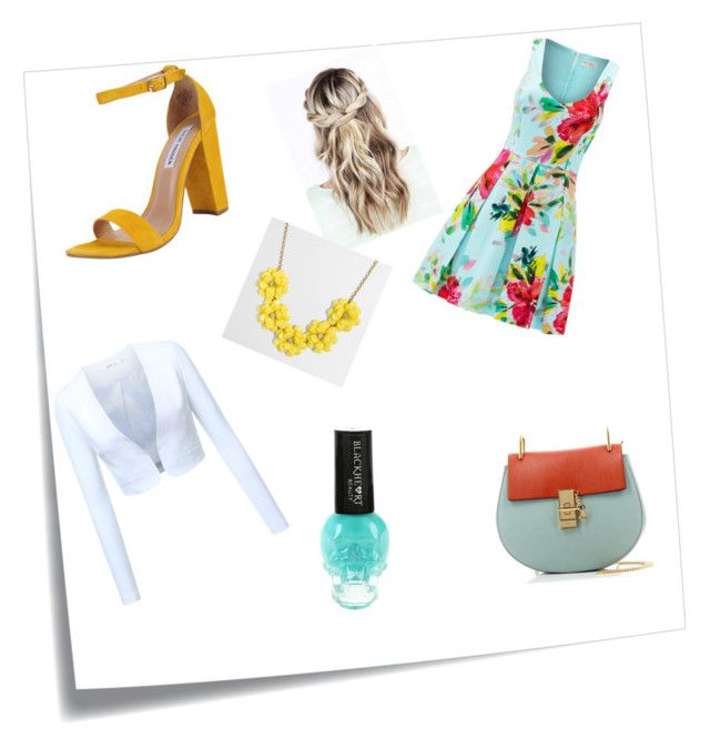 Spring much? by tahira-rizvi on Polyvore featuring polyvore, moda, style, Trina Turk, Steve Madden, Chloé, J.Crew, Post-It, fashion and clothing