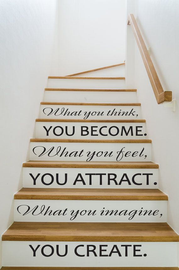 Stairway Wall Decals Quotes Decal Buddha Quote Vinyl Stickers For Staircase Home Decor Fd219