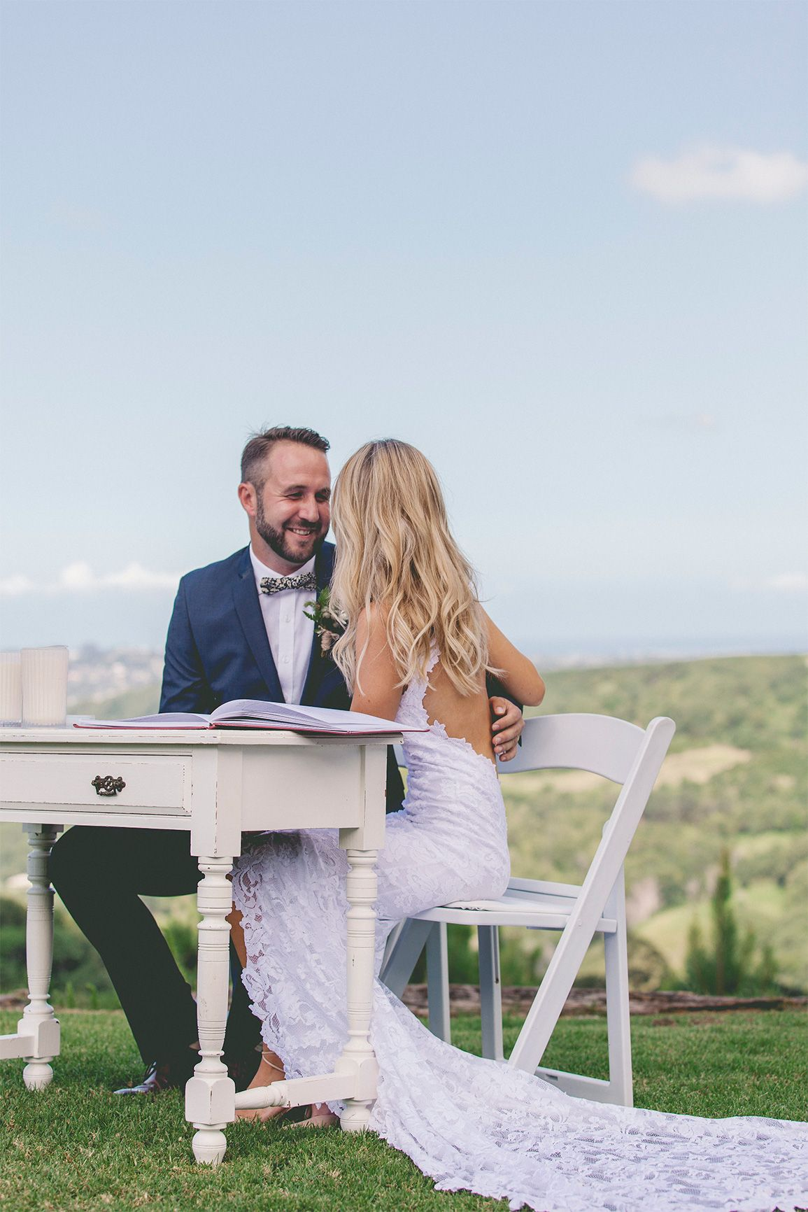 4c6bdd5c3294 Cody and Cassie's elegant and effortless wedding, featuring our Alexandra  gown.