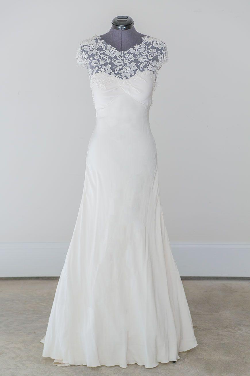 Silk sheath wedding dress  Lela Rose  The Woods  Lela Roseus exquisite