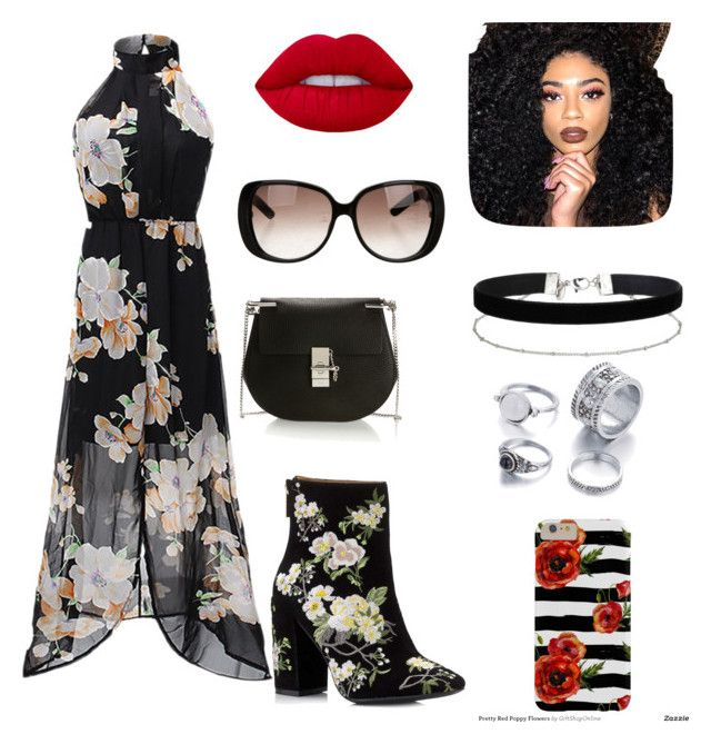 """""""Untitled #9"""" by jazcrabbe on Polyvore featuring Miss Selfridge, Chloé, Gucci, Lime Crime and Kylie Cosmetics"""