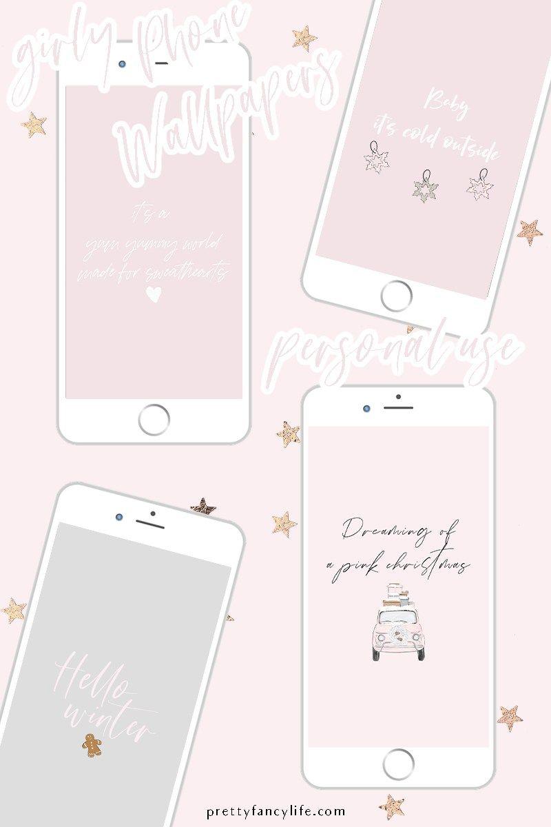 Girly Winter Wonderland Phone Wallpapers In 2020 Phone Wallpaper Winter Wonderland Wallpaper Pastel Iphone Wallpaper