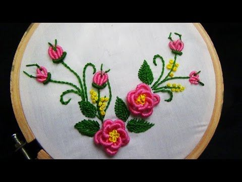 Hand Embroidery Designs Embroidery Tutorialembroidery For Frocks