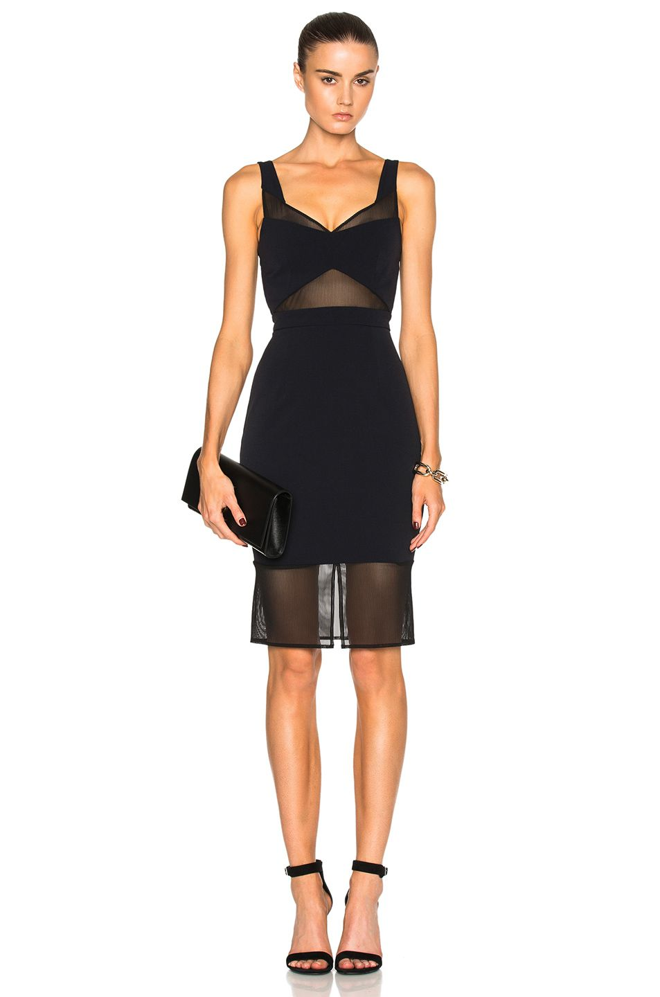 Image 1 of Carisa Rene by Nightcap Tulle Cut Out Dress em Preto