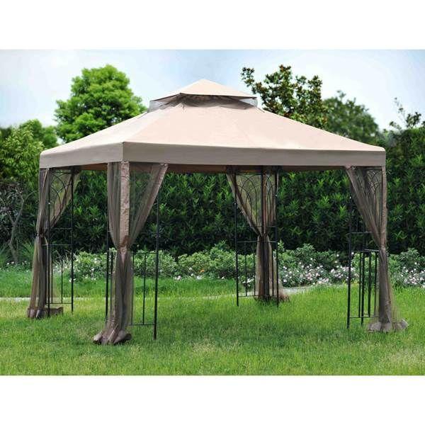 Sunjoy 8 X 8 Lansing Gazebo With Netting From Blain S Farm And Fleet Gazebo Replacement Canopy Canopy Design