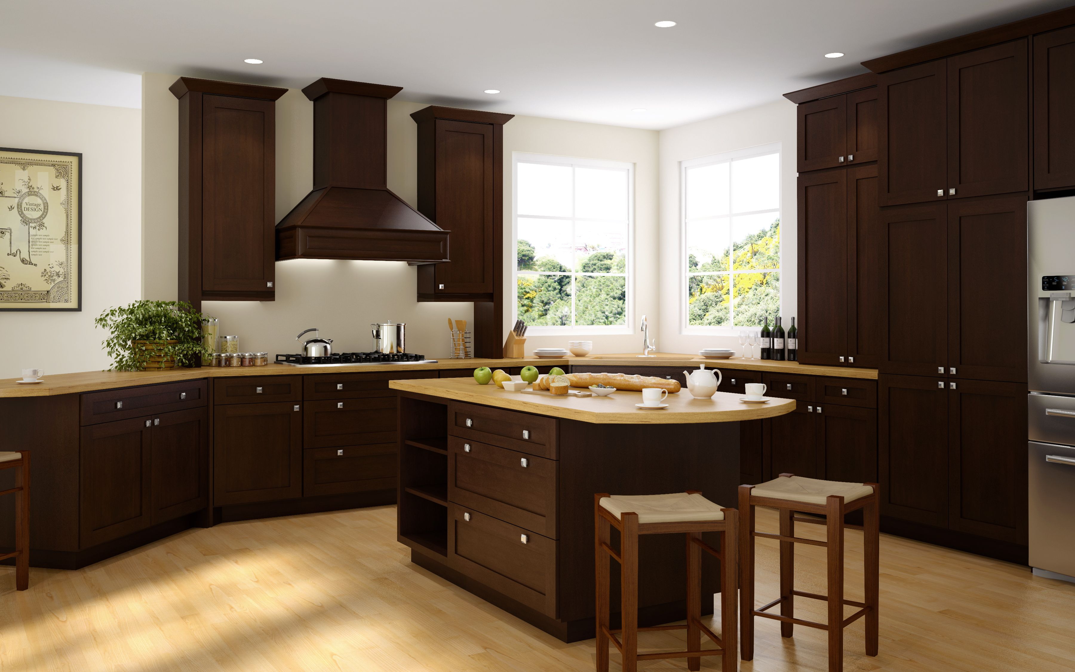 Cabinet Style Espresso Matte Material Solid Birch With Full Overlay Fun Fact Wholesale Kitchen Cabinets Assembled Kitchen Cabinets Kitchen Cabinets