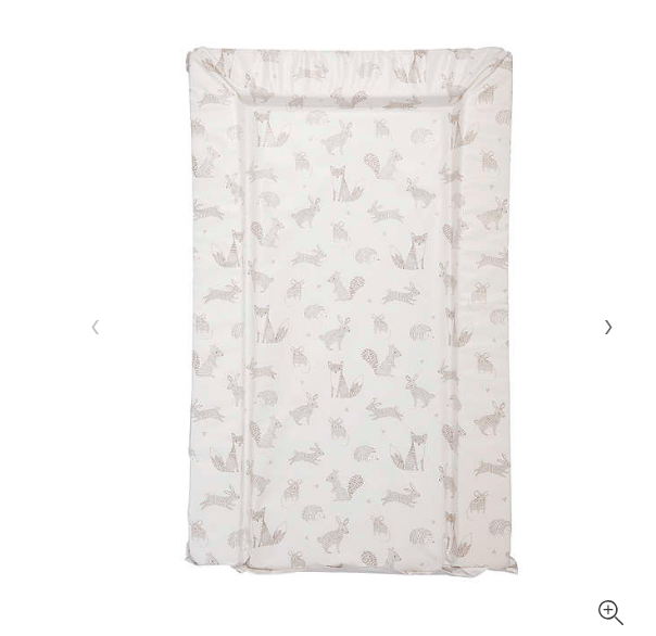 Deluxe Unisex Baby Waterproof Changing Mat with Raised Edges Unique Beautiful Woodland Animals Design