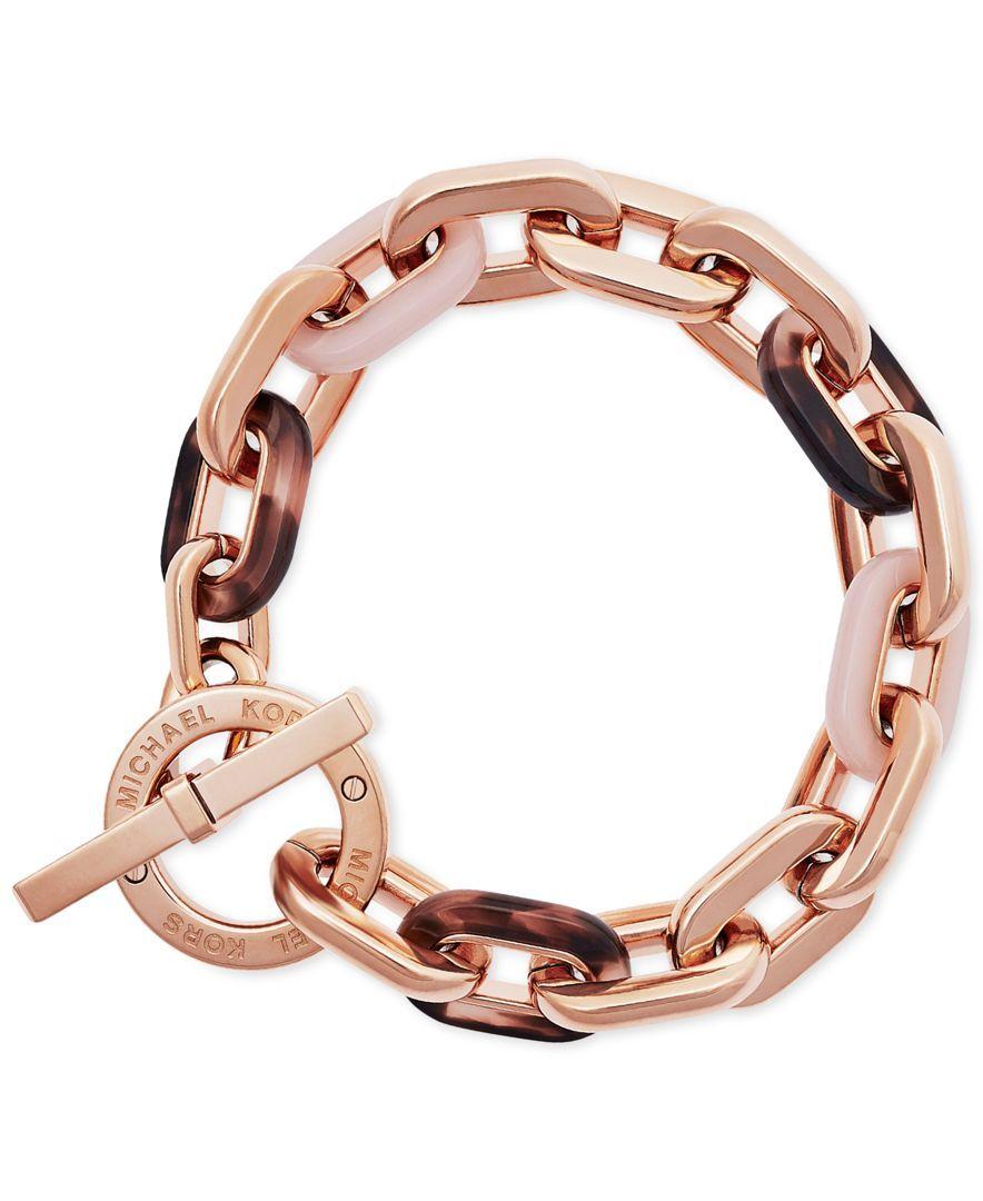 Michael Kors Colorblocked Large Link Bracelet