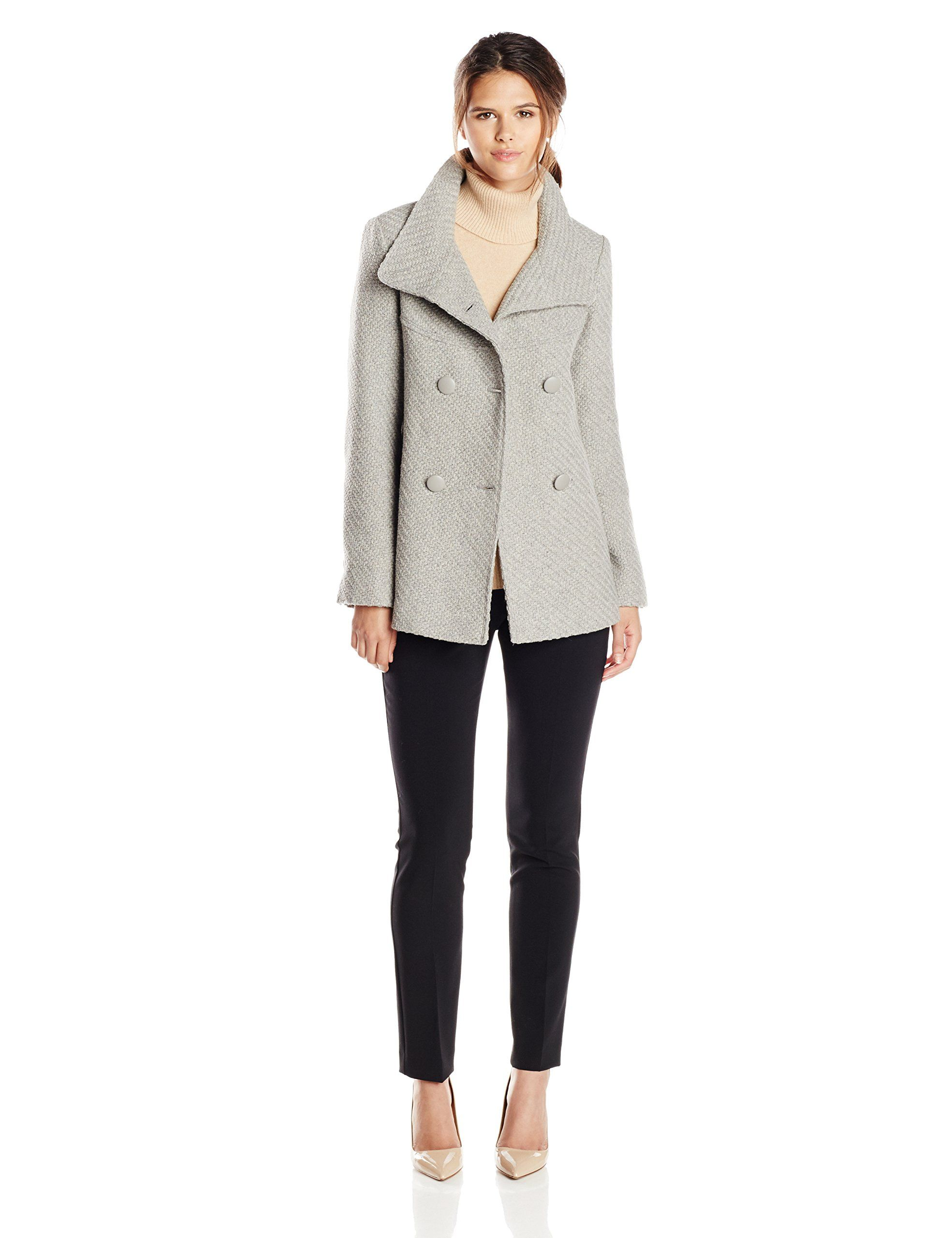 e868d12bd4 Jessica Simpson Women's Double-Breasted Braided-Wool Coat at Amazon Women's  Coats Shop