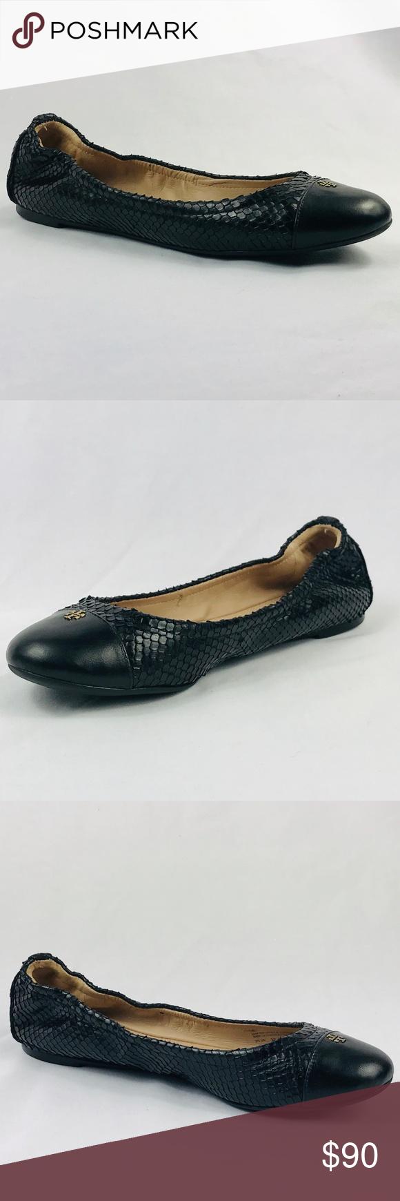 2424ae45068 Tory Burch York Ballet Flat Snake Skin FINAL PRICE FINAL PRICE