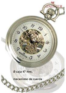 bc66a2cf4 Reloj Minister de bolsillo sin tapa esqueleto. mecanismo cuerda ...