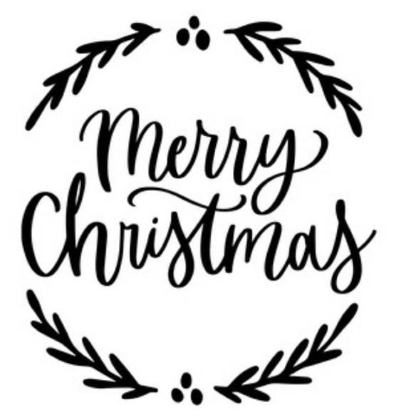 Merry Christmas vinyl decal for cars walls tumbler