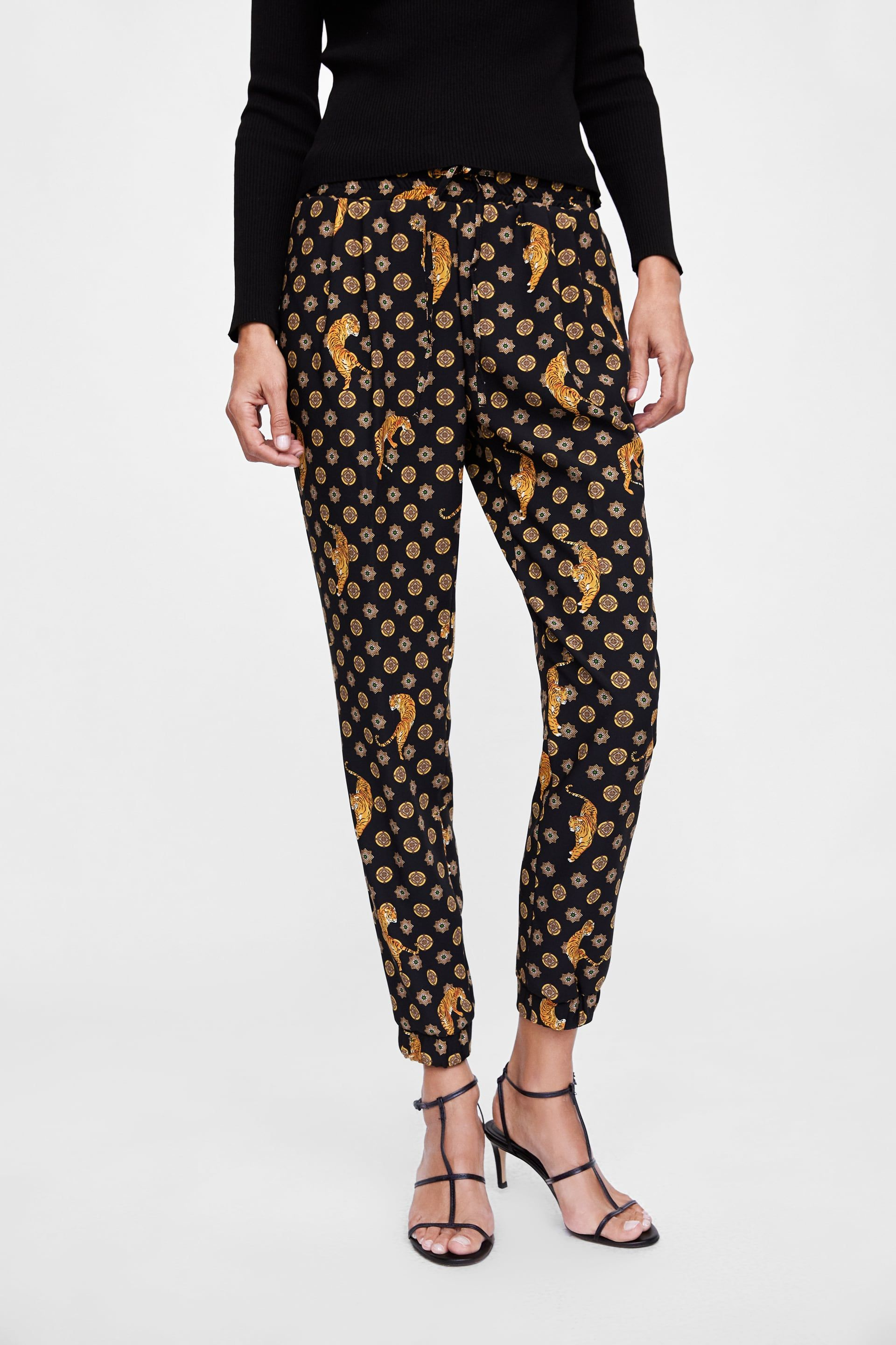 fb001df9 Image 5 of TIGER PRINTED PANTS from Zara | Work Clothes | Printed ...