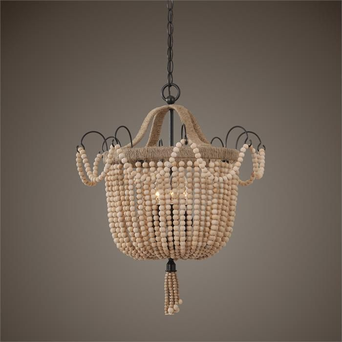Lighting Wooden Beads Chandelier