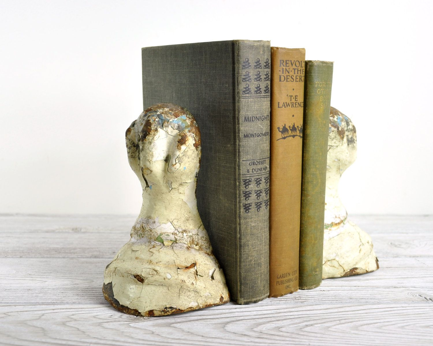 Vintage Victorian Cast Iron Claw Feet Book Ends / Repurposed Book ...