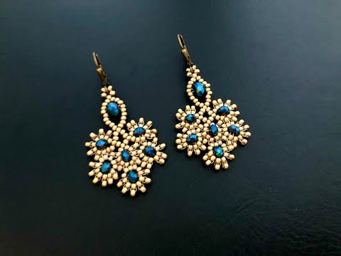 Peachick Earrings || DIY Beaded Earrings || How to
