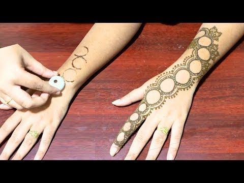 Easy Mehndi Ideas : Latest and new mehndi design with dots easy designs