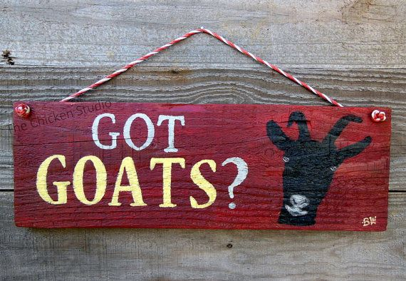 Gentil Got Goats Goat Sign Goat Decor Goat Lovers By TheChickenStudio