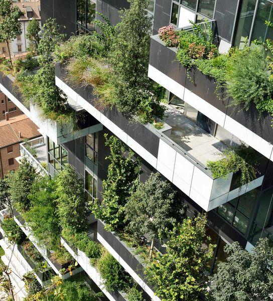 Vertikaler Wald Stefano Boeri Gewinnt Ihp 2014 Grune Architektur Grune Fassade Hochhaus