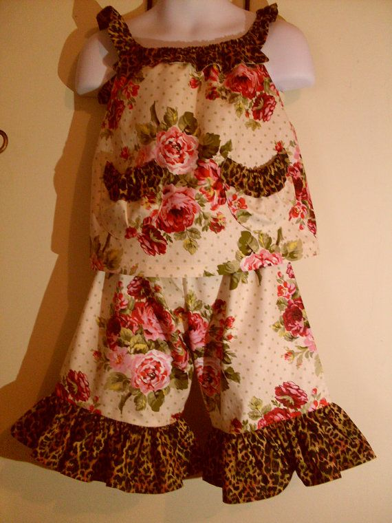 Custom Ruffled Capri Outfit by TaterBlossoms on Etsy, $45.00