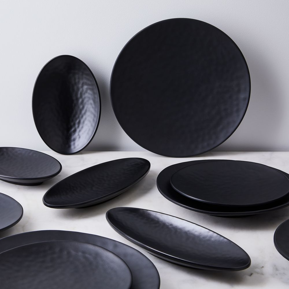Melamine Cobbled Charcoal Plates Set Of 6 In 2020 Melamine Dinnerware Sets Plate Sets Plates
