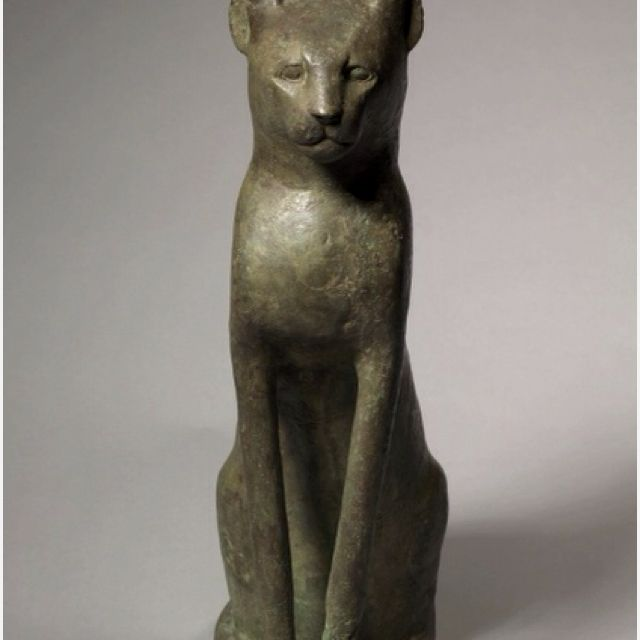 Cat Coffin  The Cleveland Museum Of Art.   305-30BC,Gallery 107.  Bronze,Hollow Cat I always look for this cat when I visit.