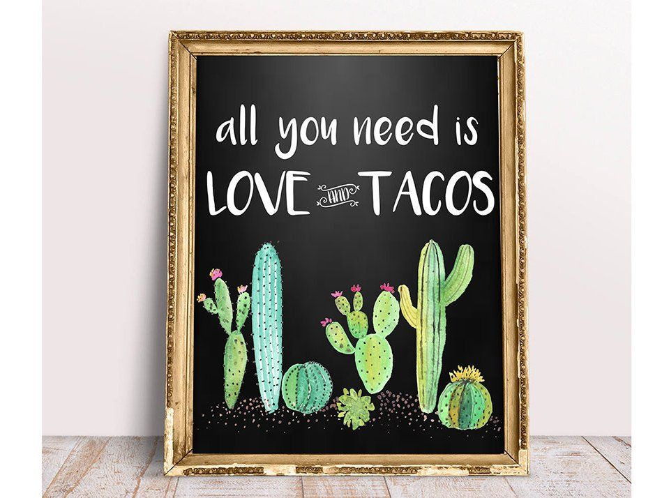 Taco Bar All You Need Is Love And Tacos Taco Bar Sign Etsy Taco Bar All You Need Is Love Bar Signs